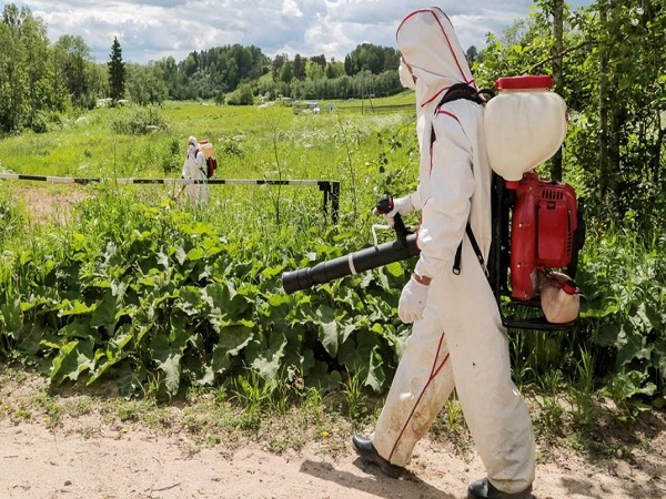 Гербицидная обработка поля в Челябинске